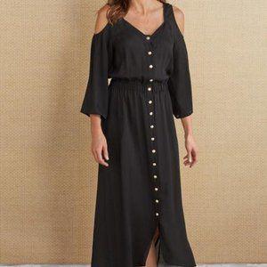 Soft Surroundings Brigette Black Dress NWT L